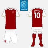 Set of soccer jersey or football kit template for your football club. Royalty Free Stock Photography