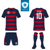 Set of soccer kit or football jersey template. Front and back view. Football uniform. Vector Illustration Royalty Free Stock Image
