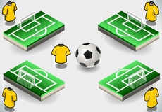 Set of Soccer Penalty Area and Icons Royalty Free Stock Image