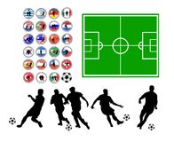 Set of soccer symbols Stock Image