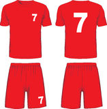 Set of soccer uniform front and back view. Vector Royalty Free Stock Photos