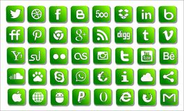 Set social icons Stock Photos