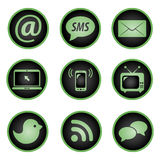 Set of social icons Royalty Free Stock Photos