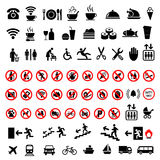 Set social icons on a white background. Royalty Free Stock Image