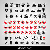 Set social icons on a white background. Royalty Free Stock Images