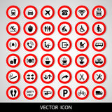 Set social icons on a white background. Vector illustration. Royalty Free Stock Photography