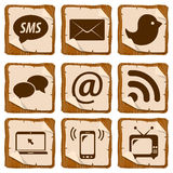 Set of social icons Stock Image
