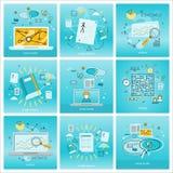 Set of Social Media Backgrounds Stock Photo