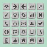 Set of social media buttons for design - icons Stock Illustration