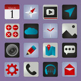 Set of social media buttons for design - vector icons Royalty Free Stock Image