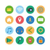 Set of social media icons Royalty Free Stock Photography