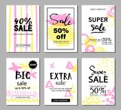 Set of social media sale website and mobile banner templates. Vector banners, posters, flyers, email, newsletter, ads, promotional Stock Photography