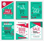 Set of social media sale website and mobile banner templates. Vector banners, posters, flyers, email, newsletter, ads, promotional Stock Photo