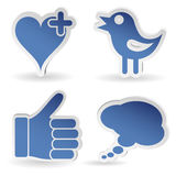 Set Social Media Sticker Royalty Free Stock Images