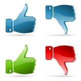 Set Social Media Sticker Stock Photography