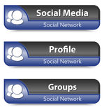 Set of Social network elements Royalty Free Stock Photos