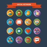 Set of social network and media icons Royalty Free Stock Photography