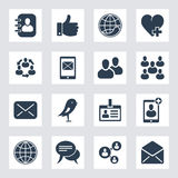 Set of social network and media icons Stock Image
