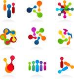 set social vektor för symbolsmedelnätverk royaltyfri bild
