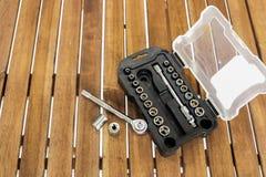 Set of socket wrench Stock Image
