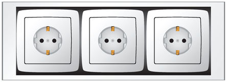 Set of sockets Stock Photos