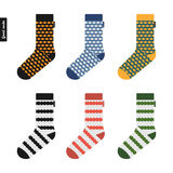 Set of socks original hipster design Stock Images