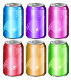 Set of soda cans. Illustration of a set of soda cans on a white background Stock Photography