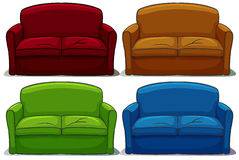 Set of sofa Stock Photo