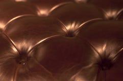 set sofa för möblemanglädervardagsrum Arkivbild