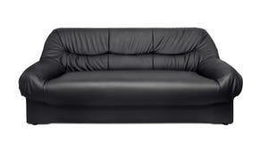 set sofa för möblemanglädervardagsrum Arkivbilder