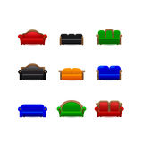 Set sofa icons Royalty Free Stock Images