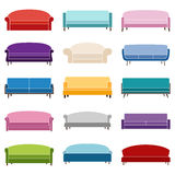 Set of sofa icons, vector illustration Royalty Free Stock Photo