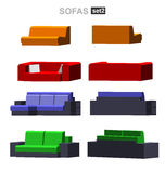 Set of the  sofa Royalty Free Stock Photography