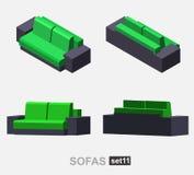 Set of the  sofa Royalty Free Stock Image