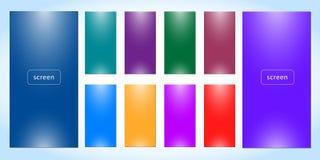 Set of Soft color background. stock illustration