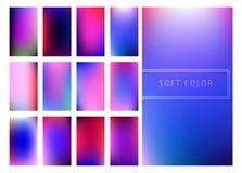 Set of soft color gradients background. For mobile screen, smartphone app. Vector illustration Vector Illustration