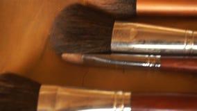 Set soft makeup brush stock video