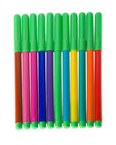 Set of soft-tip pens Royalty Free Stock Photography
