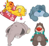 Set of soft toys cartoon Stock Photography