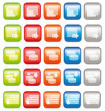 Set of software buttons Royalty Free Stock Photo