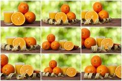 Set sok pomarańcze Zdjęcie Stock