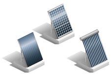 Set of solar panels Royalty Free Stock Photos