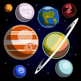 Set with Solar System planets Royalty Free Stock Photography