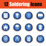 Set of soldering  icons. Royalty Free Stock Photo