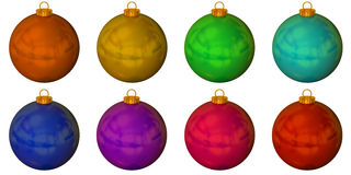 Set of solid colour christmas balls Stock Image