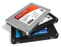Set of solid state drives (SSD) Royalty Free Stock Images