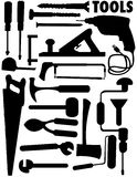 Set of some tools. Vector illustration of tool silhouettes Stock Photo