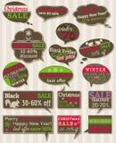Set Sonderverkaufangebotkennsätze und -fahnen Lizenzfreies Stockfoto