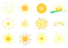 Set Sonnen Lizenzfreie Stockfotografie