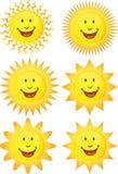 Set Sonnen 3D Lizenzfreies Stockbild